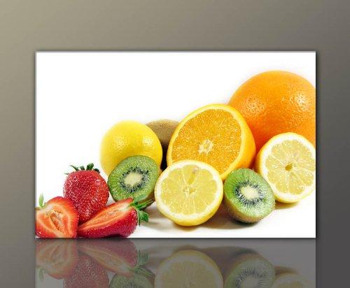 BERGER-DESIGNS-Wandbild-fr-die-Kche-gnstig-modern-SunFruits-40x60cm-Bilder-fertig-gerahmt-mit-Keilrahmen-gro-Ausfhrung-schner-Kunstdruck-auf-echter-Leinwand-als-Wandbild-mit-Rahmen-Bild-Typ-Deko-Kchen