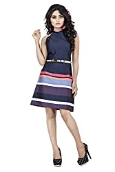 Sadhana Impex Satin Dress,Multi-Coloured(m)