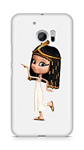 Amez designer printed 3d premium high quality back case cover for Htc One M10 (Cute Snake Girl)