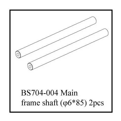 "Redcat Racing Main Frame Shaft, 6 x 85"", Gun Metal"