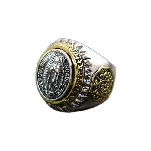 シルバーアクセサリー シルバーリング 指輪 メンズ リング メキシカンリング 聖母マリア r0575 【17号】