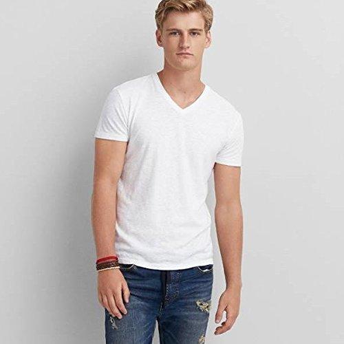 (アメリカンイーグル) メンズ Tシャツ AEO Legend V-Neck T-Shirt Cool White 並行輸入品 [並行輸入品]