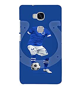 EPICCASE football fool Mobile Back Case Cover For Huawei Honor 5X (Designer Case)
