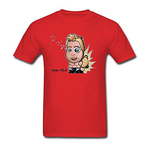 [Tommsty Men's Chris Jericho Short Sleeve Cotton T Shirt] (Animal That Starts With J)
