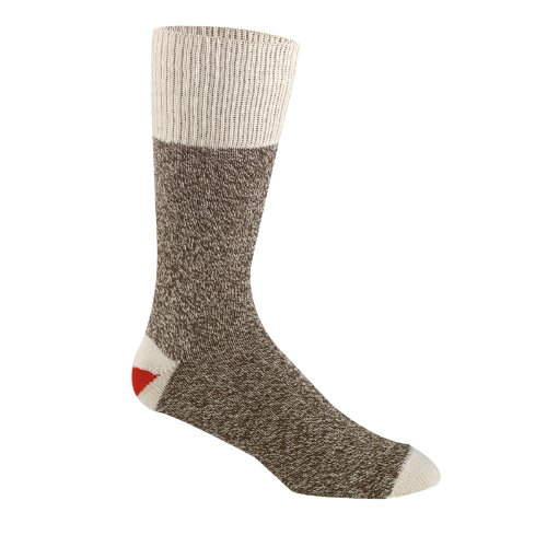 Fox River Original Rockford Red Heel Cotton Monkey Sock,Women's 10-12.5/Men's 9-11.5,Brown