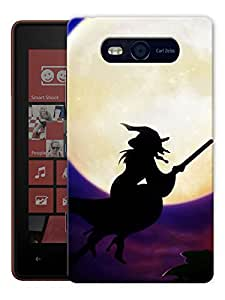 "Humor Gang Witch By The Moon Printed Designer Mobile Back Cover For ""Nokia Lumia 820"" (3D, Matte, Premium Quality Snap On Case)"