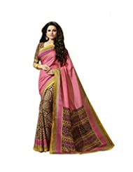 Vipul Rasipuram Silk Pink Traditional Printed Saree
