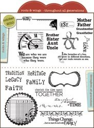 Unity Stamp Unmounted Red Rubber Stamps-Roots & Wings-27/Pkg