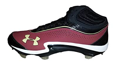 Under Armour Team Heater IV ST Mens Metal Baseball Cleats (Black Cardinal) - 11.5 by Under Armour