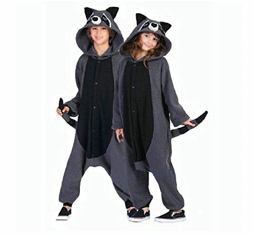 7eade5ccf7 wotogold Animal Traje de Cosplay Mapache Onesies Hombre Mujer Unisex Piyama adultos  Pijamas