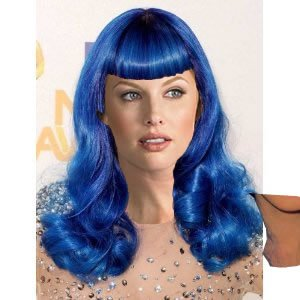 Sexy Soft Katy Blue Wig - Aqua Blue Fashion Wigs