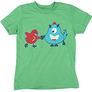Jessy & Jack Chick Gender-Neutral Kids' Chick and Monster Toddler T-shirt 3-4T Grass