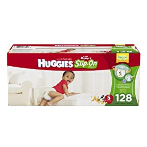 Huggies Little Movers Slip-On Diaper Pants, Size 5, 128 Count