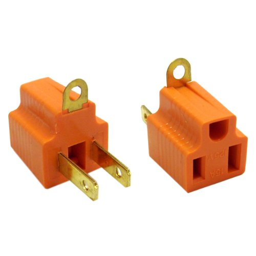 24 Pieces Electrical Ground Adapter 2 Prong Outlet To 3 Prong Plug Ac Converter
