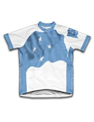 Micronesia Federated States Flag Short Sleeve Cycling Jersey for Women