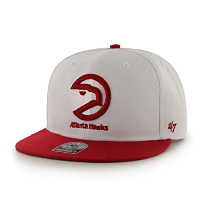NBA Atlanta Hawks Big Shot Snapback Adjustable Cap, One Size, White