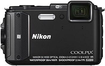 """Nikon Coolpix AW130 Appareil photo numérique compact 16 Mpix Écran LCD 3"""" Zoom optique 5X Noir"""