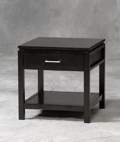 Cheap Linon Sutton Black Wood End Table (84028BLK-01-KD-U)