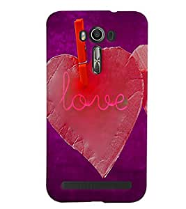 PrintVisa Romantic Love 3D Hard Polycarbonate Designer Back Case Cover for Asus Zenfone 2 Laser ZE500KL