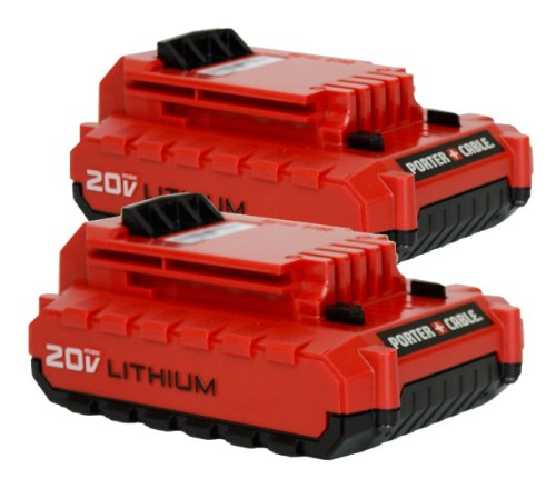 porter cable pcc680l 20 volt lithium ion battery 2 pack by porter