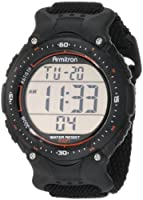 Armitron Men's 408159BLK Sport Chronograph Black Strap Digital Display Watch from Armitron