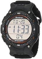 Armitron Men's 408159BLK Sport Chronograph Black Strap Digital Display Watch from Armitron