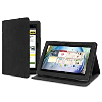 Version Stand Natural Hemp Case for Lenovo IdeaTab S6000 - Carbon Black
