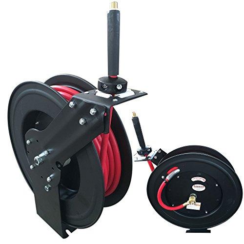 Druckluft-Schlauch-mit-Aufroller-Schlauchtrommel-Automatik-Drucklufttrommel-15-m-Druck-Luft