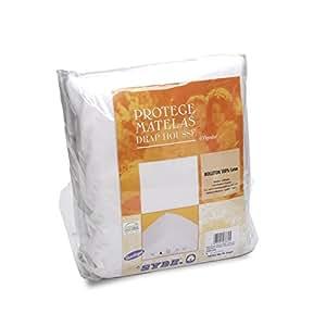 Protège matelas 180x200 cm ACHILLE - Molleton 100% coton 400 g/m2
