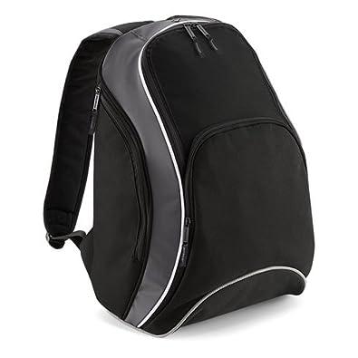 Bagbase Teamwear Backpack in Black / graphite / white