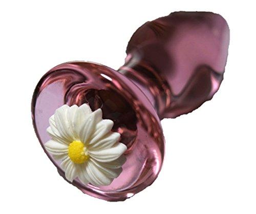 優雅 美しい 花柄 ガラス製 ロッド インテリア ピンク 直径:40mm 長さ:100mm