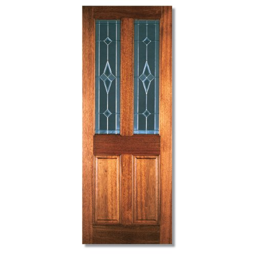 LPD Richmond Interior Door - Hardwood - Diamond Tempered Glazed - H 78in x W 33in x D 44mm