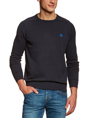 Timberland Clothing 12gg LW Cotton Crew Men's Jumper Navy Medium
