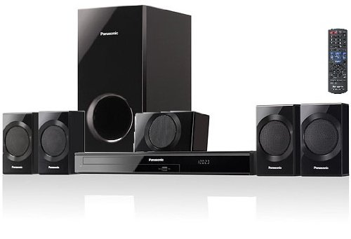 Panasonic 1000 Watts 5.1 Channel Virtual Surround Effect DVD Home Theater 3D Cinema Surround Sound Entertainment System with 1 Center Channel Speaker, 4 Satellite Speakers, Subwoofer, DVD Player, Remote Control, Dolby Digital Decoder, HDMI with Audio Return Channel, VIERA Link, Optical Input, Digital Synthesizer Tuner, 30 FM Radio Station Presets &amp; Front Panel USB Music Port to Connect &amp; Play Your iPod &amp; iPhone