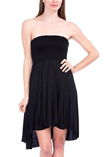 Modern Kiwi Eva High Low Dress Black Small