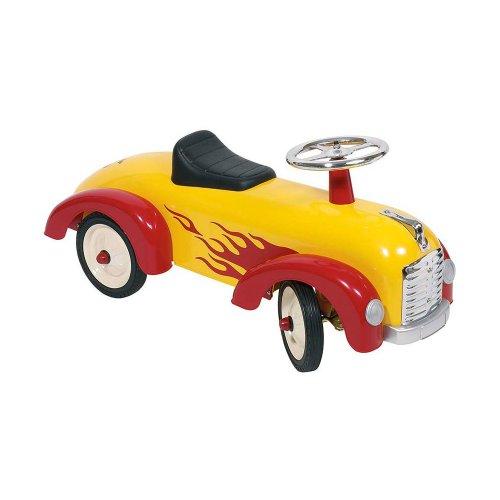 Goki - 2041345 - Porteur - Chariot À Tirer Avec Des Flammes Imprimées