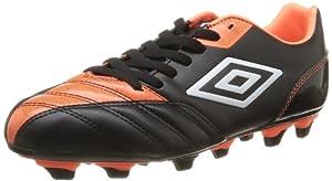 Umbro Decco Fg - Botas de fútbol de material sintético para hombre negro Noir (Cgz Noir/Orange/Blanc) 43
