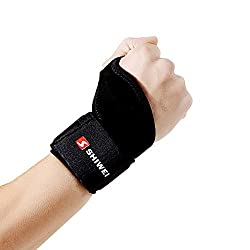 Adjustable Breathable Neoprene Right Left Wrist Brace Support for Wrist Pain & Sports Injuries - One Size Fits Most - Satisfaction Guarantee