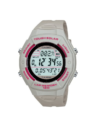 Casio Ladies Solar Powered Runners Digital Watch LW-S200H-8ACF With Resin Strap