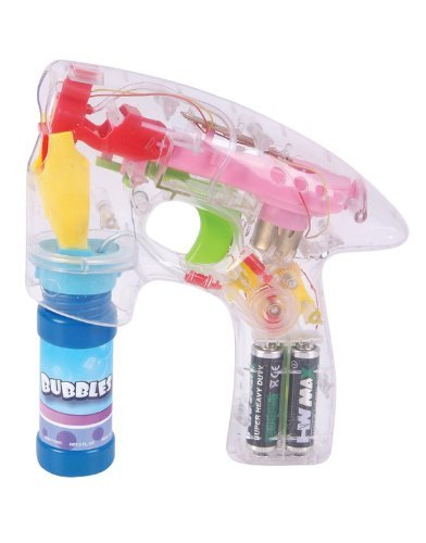 Bubble Gun Educational Products - Light Up Battery Operated Bubble Gun - Battery Operated Bubble Gun - 1