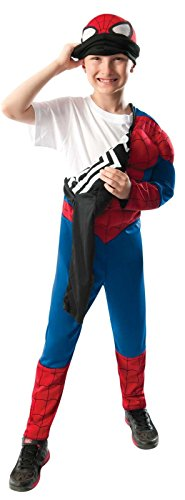 Rubie's Marvel Ultimate Spider-Man 2-in-1 Reversible Spider-Man / Venom Muscle Chest Costume, Child Small - Small One Color