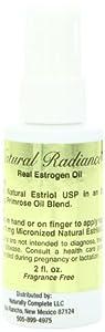 Natural Radiance Estrogen/Estriol Measured Pump Oil Bottle, Soy-Free and Unscented, 2 Ounce