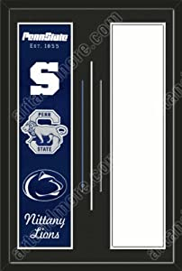 Penn State Nittany Lions & Your Choice of other Team Heritage Banner Framed-House... by Art and More, Davenport, IA