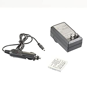 SIB's Battery&Charger for Pentax Optio A20 A36 E65 M60 S S4 S4i S5n S6 SV T10 T20 W10 W60 W80