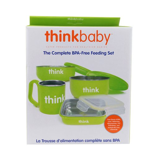 thinkbaby The Complete BPA Free Feeding Set, Light Green (Discontinued by Manufacturer)