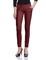 Madame Women's Slim Pants (M1427001_Wine_28)