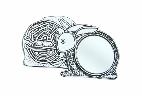 Crosby & Taylor Bunny Pewter Purse Mirror