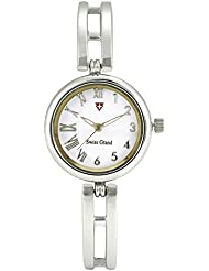 Swiss Grand SG-1163 Silver Coloured With Silver Stainless Steel Strap Analog Quartz Watch For Women