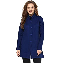 Cayman Blue Solid Winter Jacket