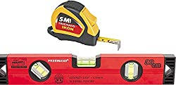 FREEMANS Ikon 5m-19mm Measuring Tape + 30cm Heavy Duty Magnetic Spirit Level